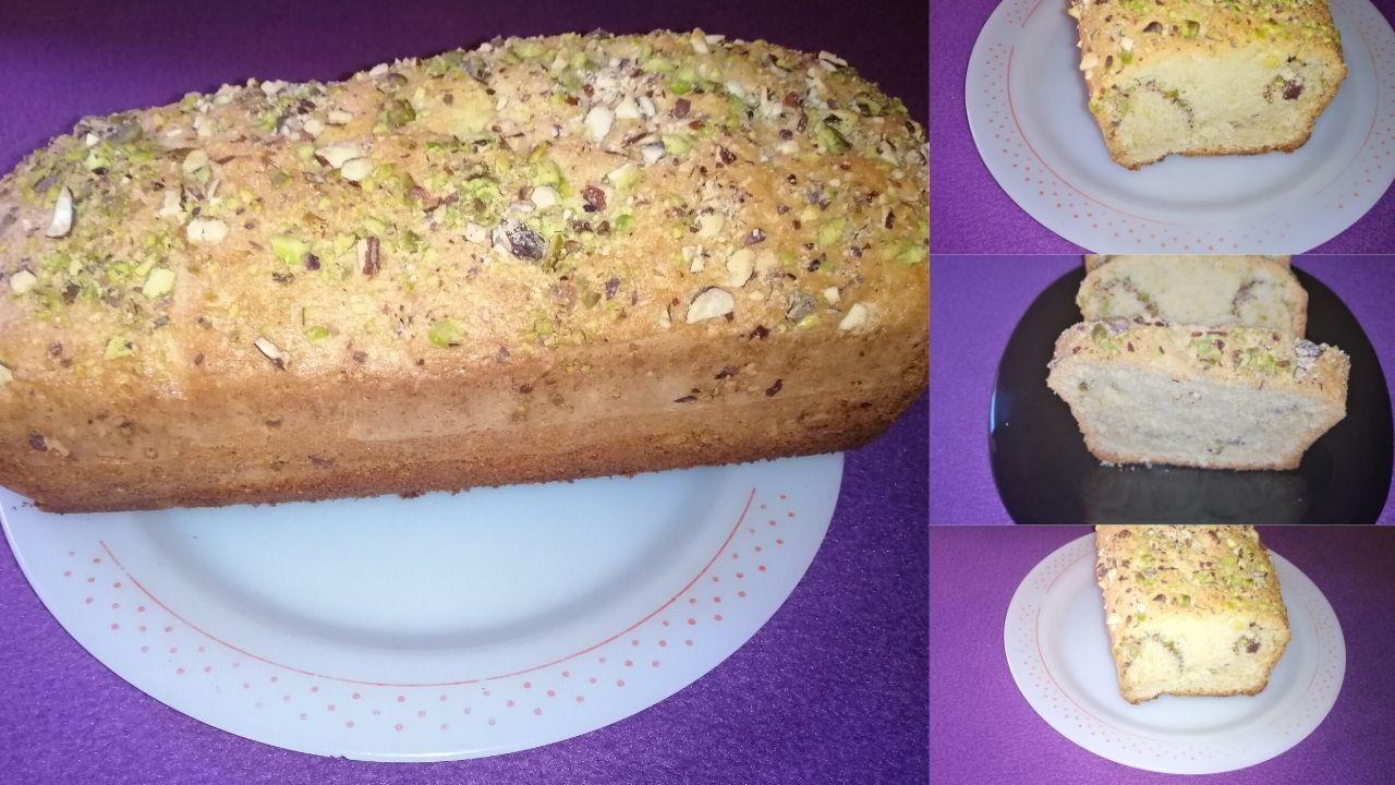 Easy Nut Cake Recipe Almonds Pistachios Cake وصفة كيكة بالمكسرات إقتصادية بدون حليب أو زبادي Food Banana Bread Desserts