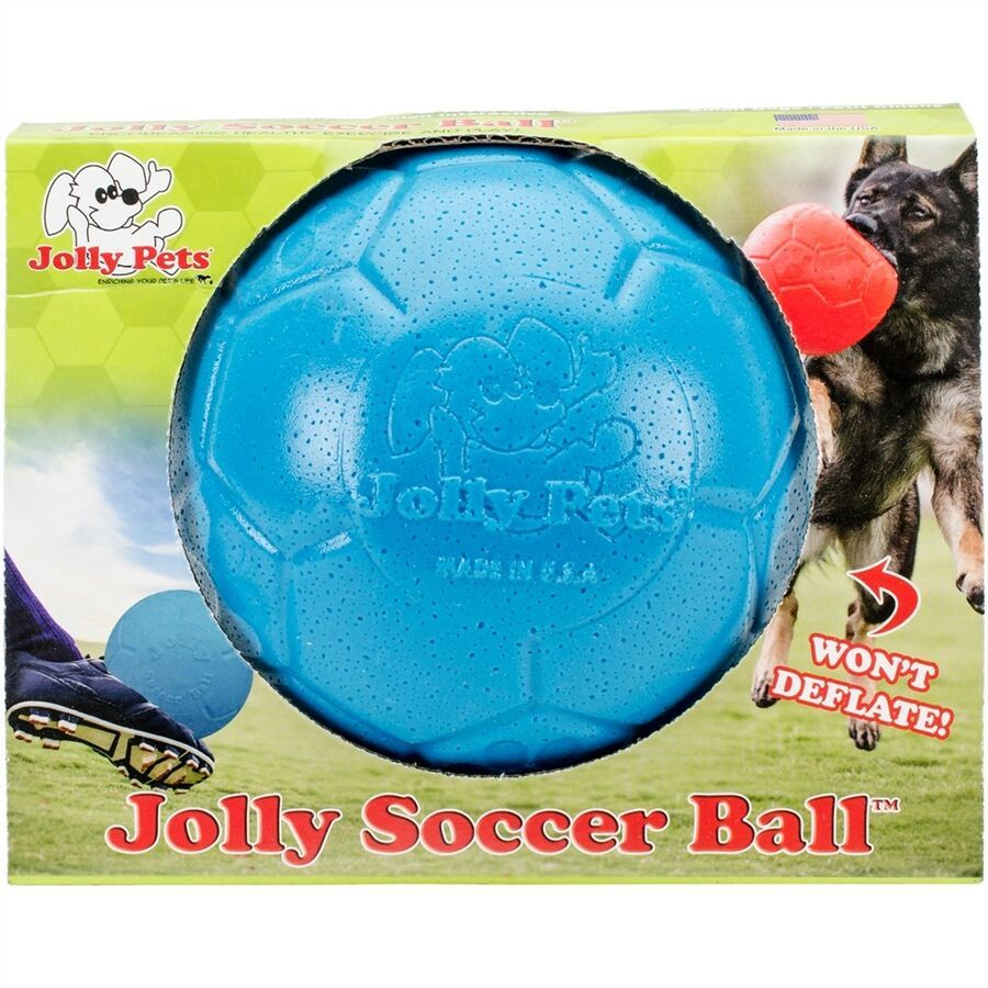 "Details about Jolly Pets 6"" Soccer Ball, Ocean Blue, Small"