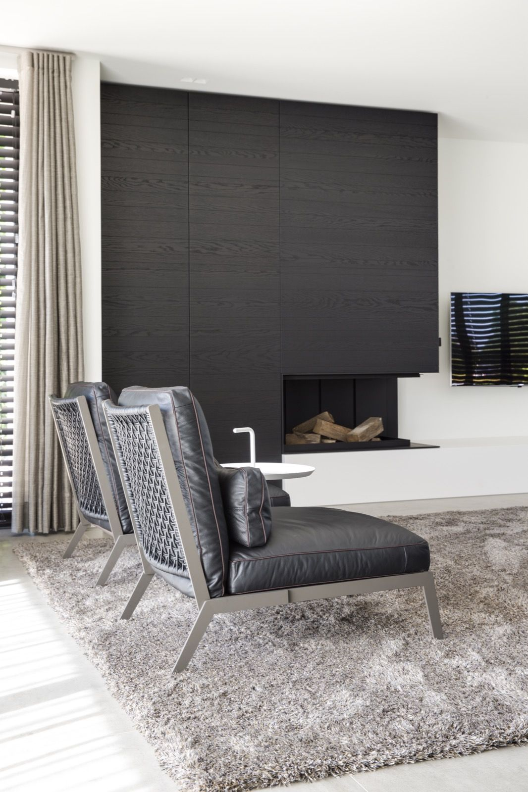 Interieurarchitectuur woonkamer complete verbouwing en inrichting