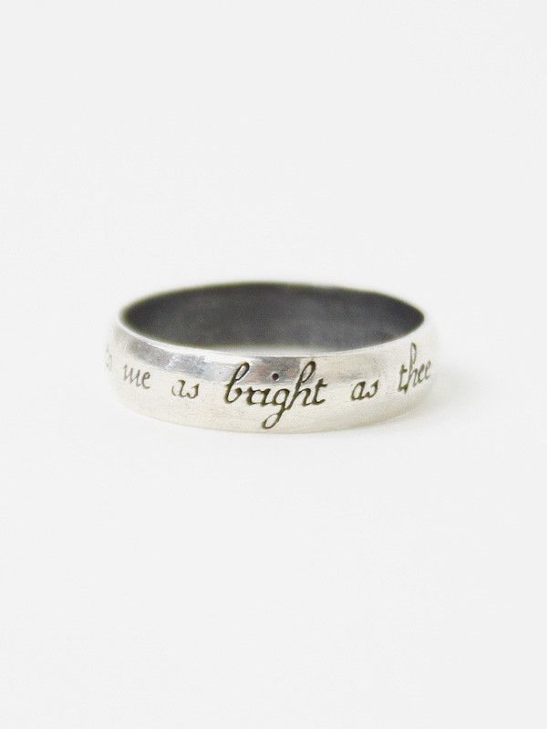 "Thin Poesy Ring: ""No Star to me as Bright as Thee"""
