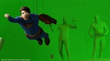 Superman's Cape Puppeteers
