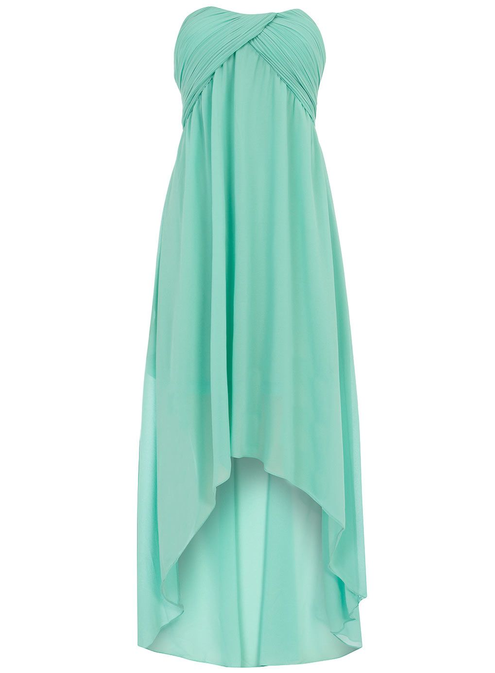 Mint ruched bandeau dip dress Price: $59.00..LB's bridesmaids maybe???