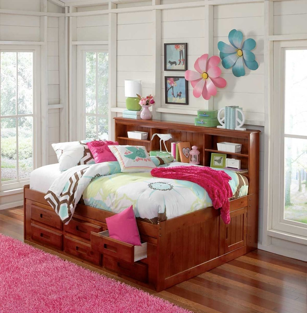 Forrester Twin Bookcase Storage Bed Daybed with storage