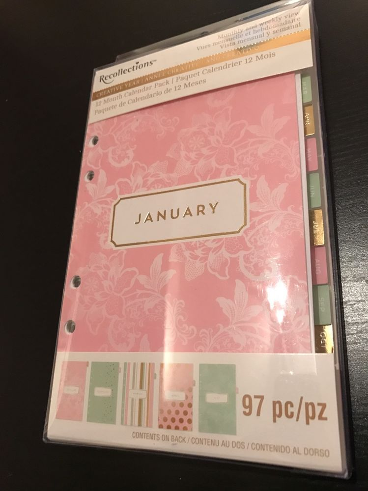 Recollections Personal A Planner Insert  Month Calendar Pack
