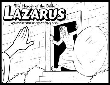 lazarus coloring page - the heroes of the bible coloring pages lazarus bible