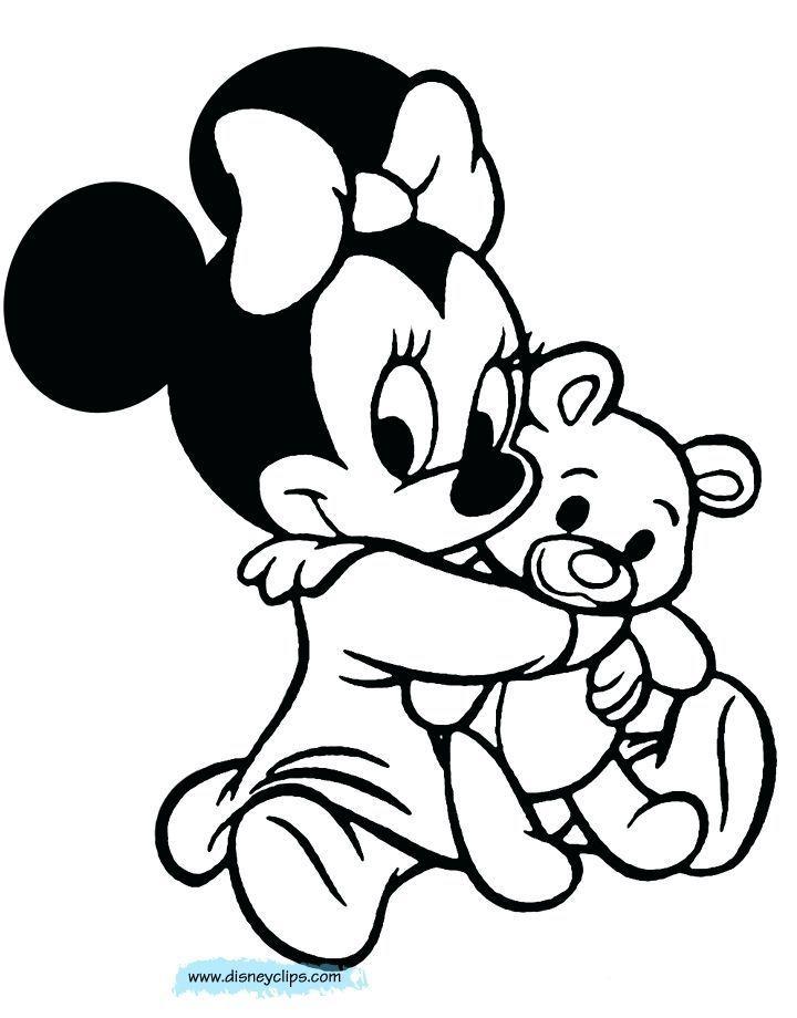 Ausmalbilder zum ausdrucken, minnie mouse baby ...