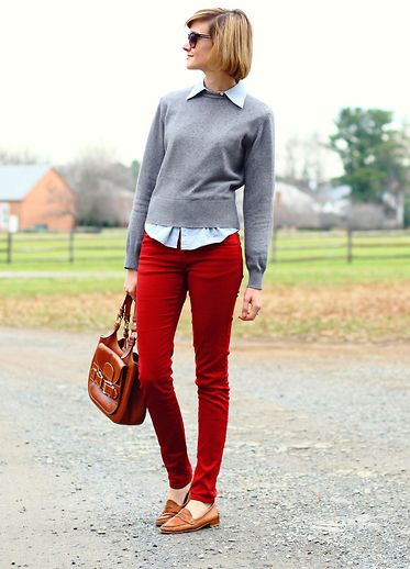 Country livin (by E Maille) http://lookbook.nu/look/2914215-country-livin-Brooks-Brothers-Button-Down-United-Colors-Of-Benetton-Sweater-Zara-Jeans-Vintage-Loafers-Bally-Bag