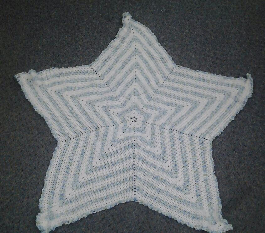 5 Point Star Baby Blanket Variation 2 Crafted By Karen Jernigan