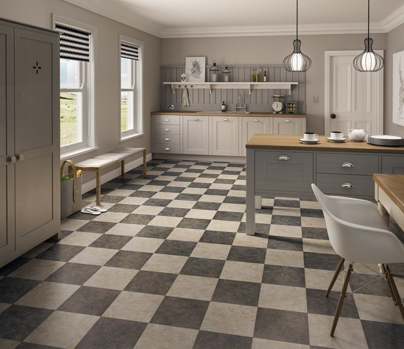 Vusta Cotswold Stone And Penrhyn Slate Flooring Tiles Laid In A