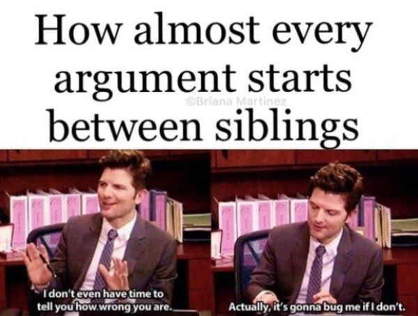 30 Funny Memes About Having a Sibling