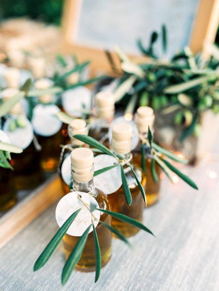 Olive Oil Wedding Favours Pastel Blue & Green, Romantic