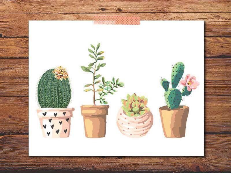 Dont be a prick succulents sticker by annmariestowe