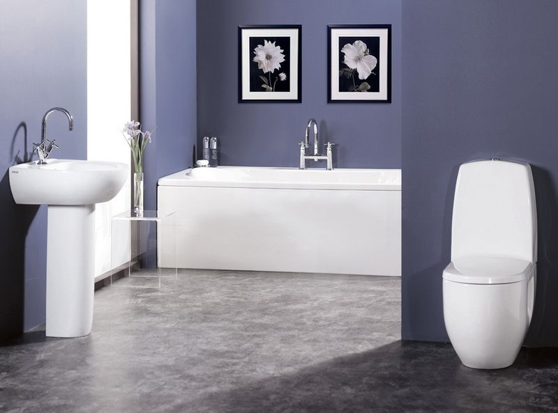 Picture Gallery Website Nice Modern Bathroom Ideas in Blue Color Scheme Picture