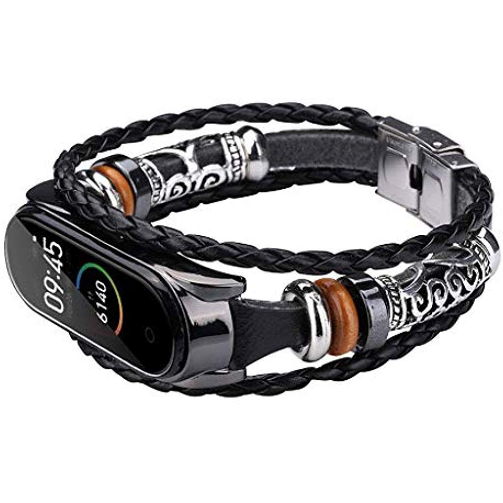 mi band bracelet cuir