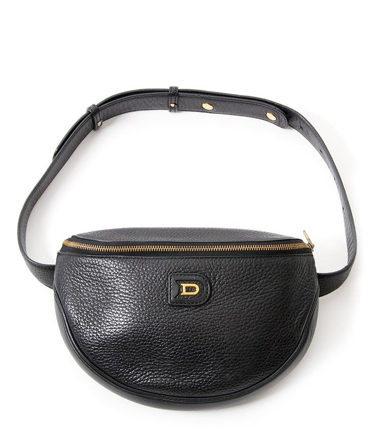 Delvaux Black Leather Hip Bag authentic secondhand safe online shopping  webshop Belgium Antwerp LabelLOV fashion style high end labels luxury brands  ... 8d17defd302d4