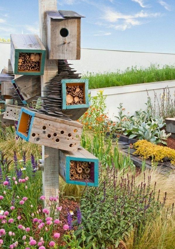 holz umweltfreundlich gras vogelhaus selber | hogelhaus, Best garten ideen