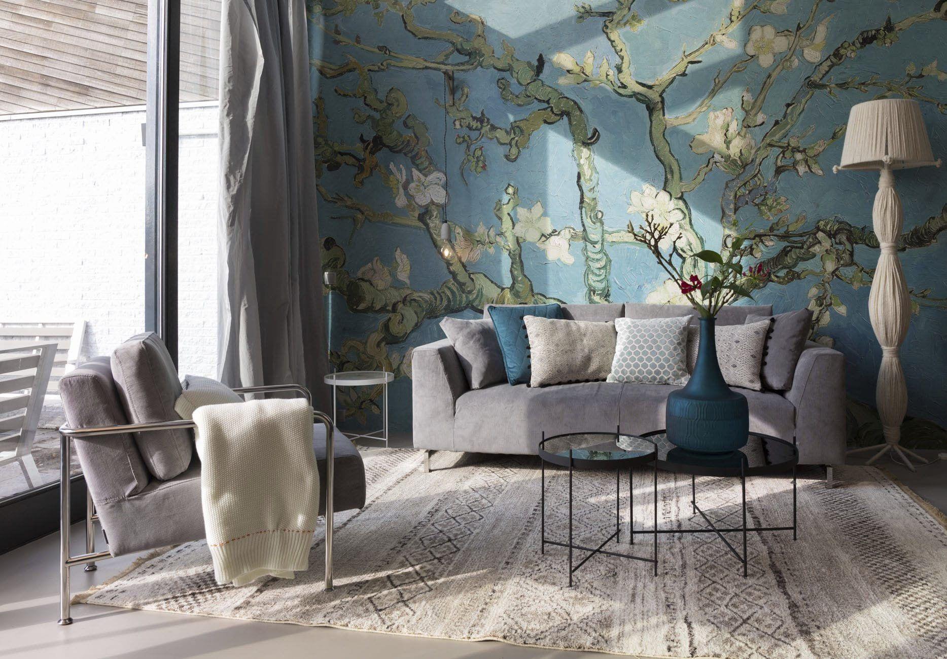 Blossom Almond Tree Wall Mural, Art Wallpaper, Wall décor