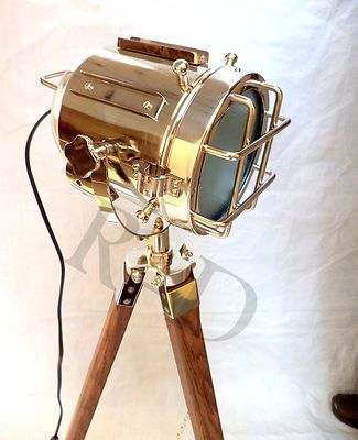 Floor Standing Lights Stand Up Lamps Designer Home Decor Lighting Wooden Tripod Ebay