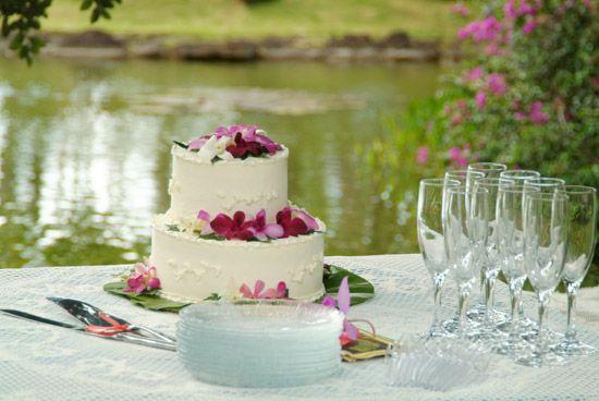 Cake with Plumeria! Pretty!
