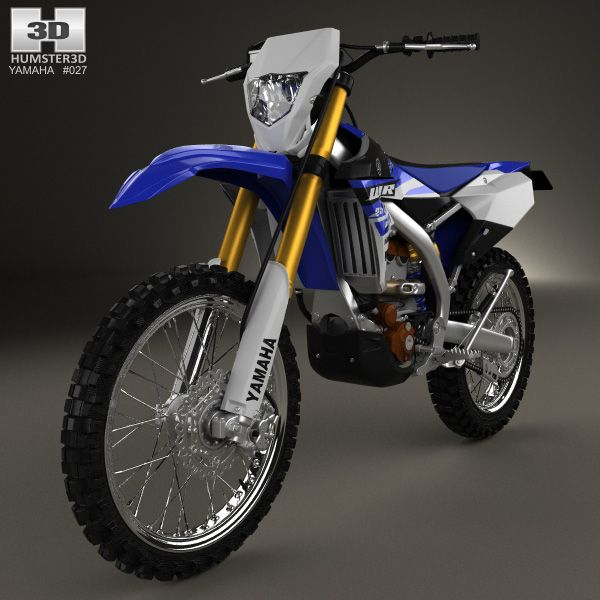 3d Model Of Yamaha Wr250f 2015 Yamaha Yamaha Motocross Enduro Motorcycle