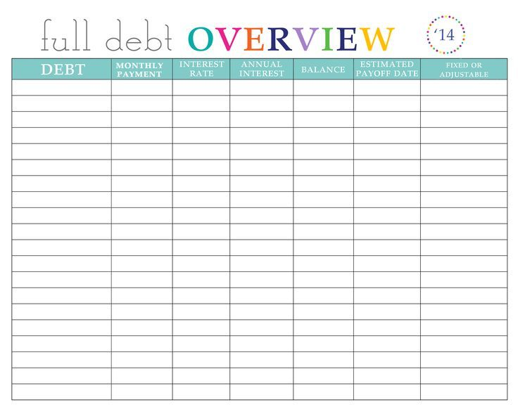 Paying off Debt Worksheets Debt Payoff Debt payoff, Budgeting