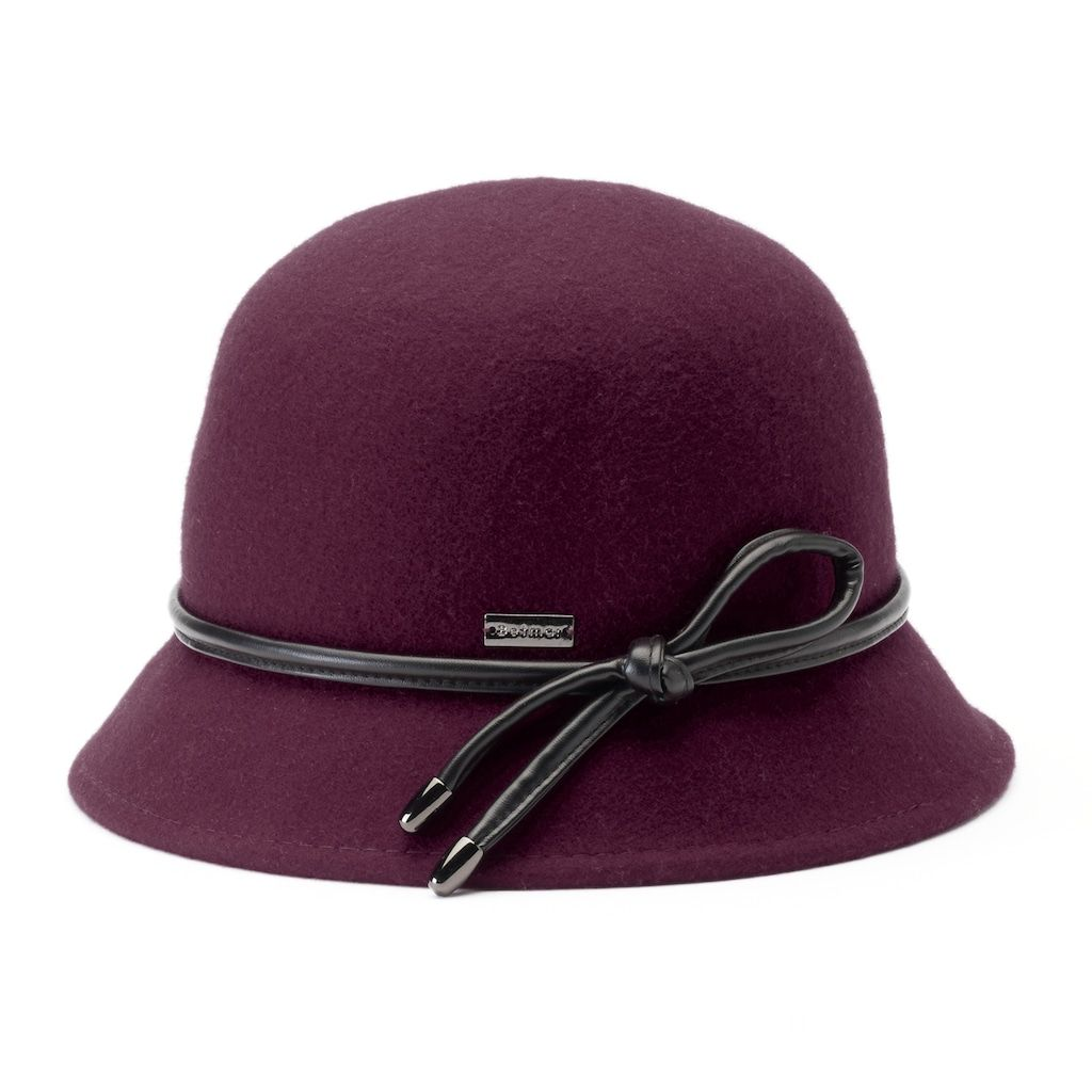 3770e4309cc Betmar Christina Loop Trim Felt Cloche Hat