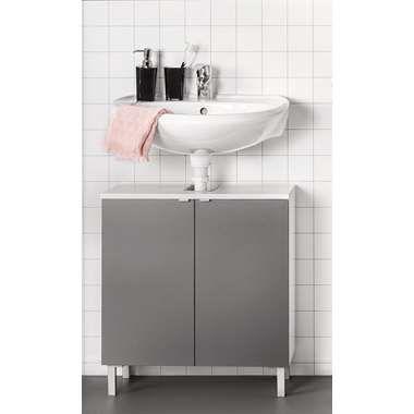 Badkamer Kast Milaan Leenbakker.Wastafelkast Milaan Grijs Wit Moodbord Douche Bathroom