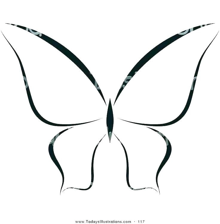 Monarch Butterfly Tattoo Black And White Google Search Butterfly Outline Butterfly Drawing Outline Butterfly Drawing