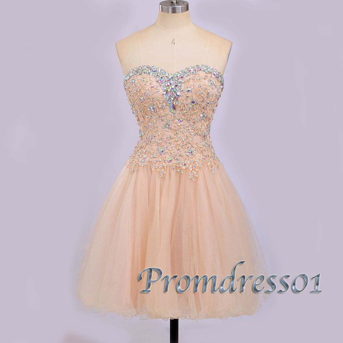Prom dresses short sweetheart dress for teens cute champagne tulle