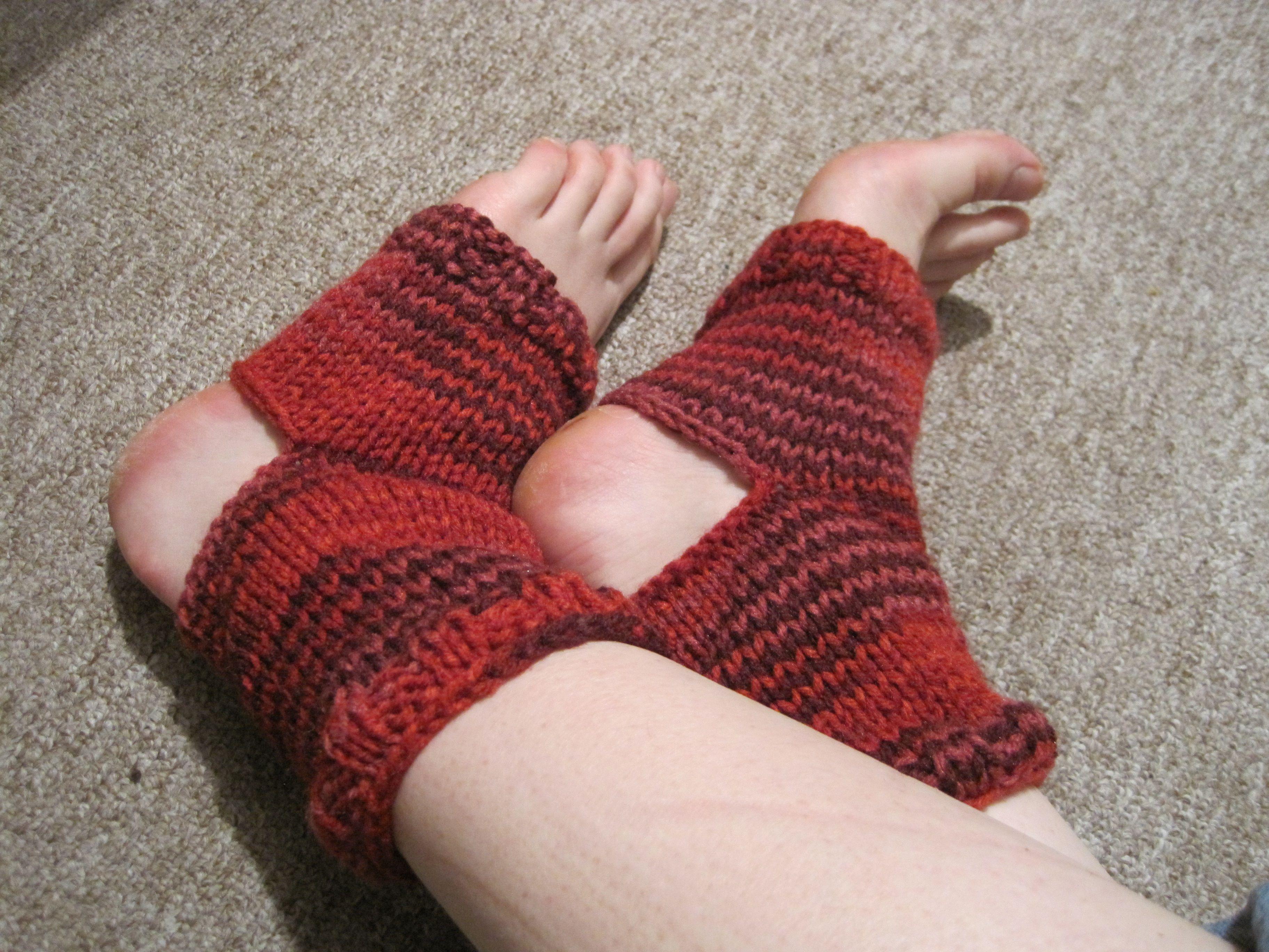 knitted yoga socks