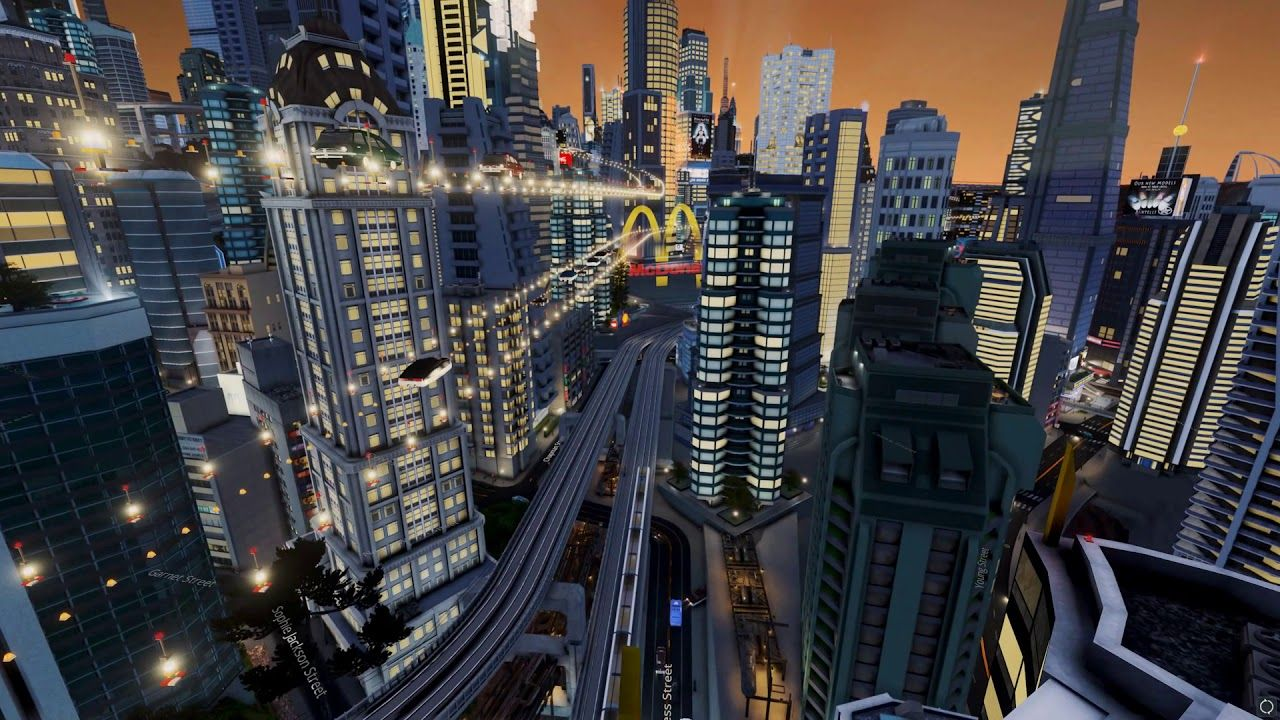 Futuristic City In Cities Skylines Game Flying Cars And Fifth Element Atmosphere City Skylines Game Futuristic City City Skyline