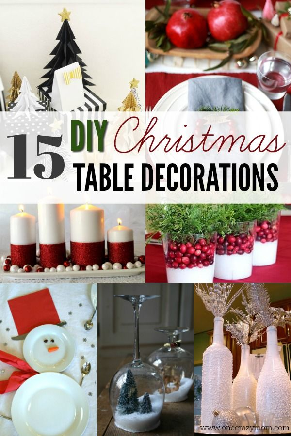 Create stunning table top decorations for Christmas 15 DIY - christmas table decorations