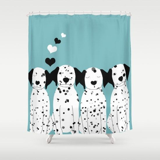 Dalmatian Dogs Shower Curtains Personalized Color Cute By Narais