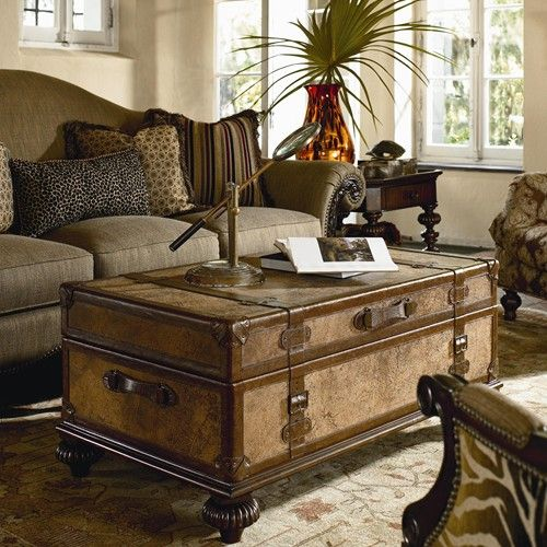Thomasville® Ernest Hemingway Traveler's Trunk Cocktail Table - Baer's Furniture…