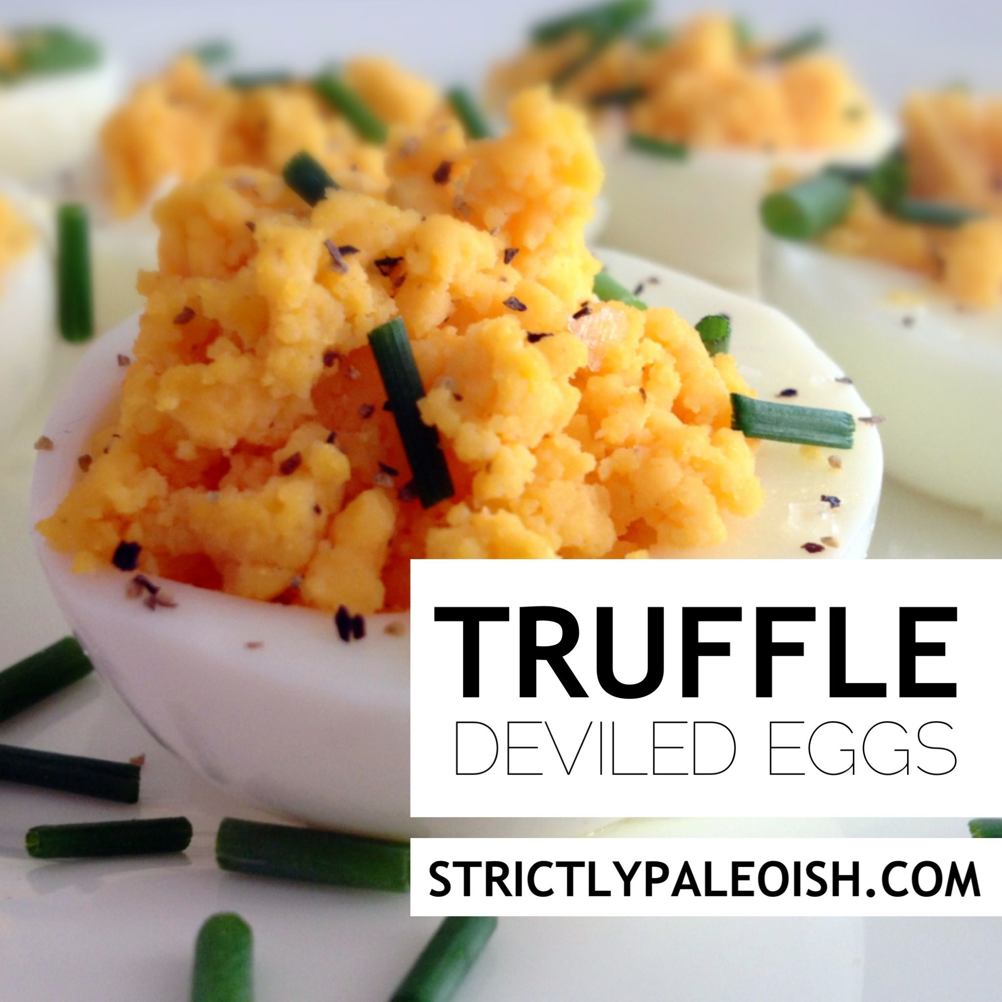 Truffle deviled eggs strictly paleoh paleo egg recipes truffle deviled eggs the foodee project forumfinder Gallery