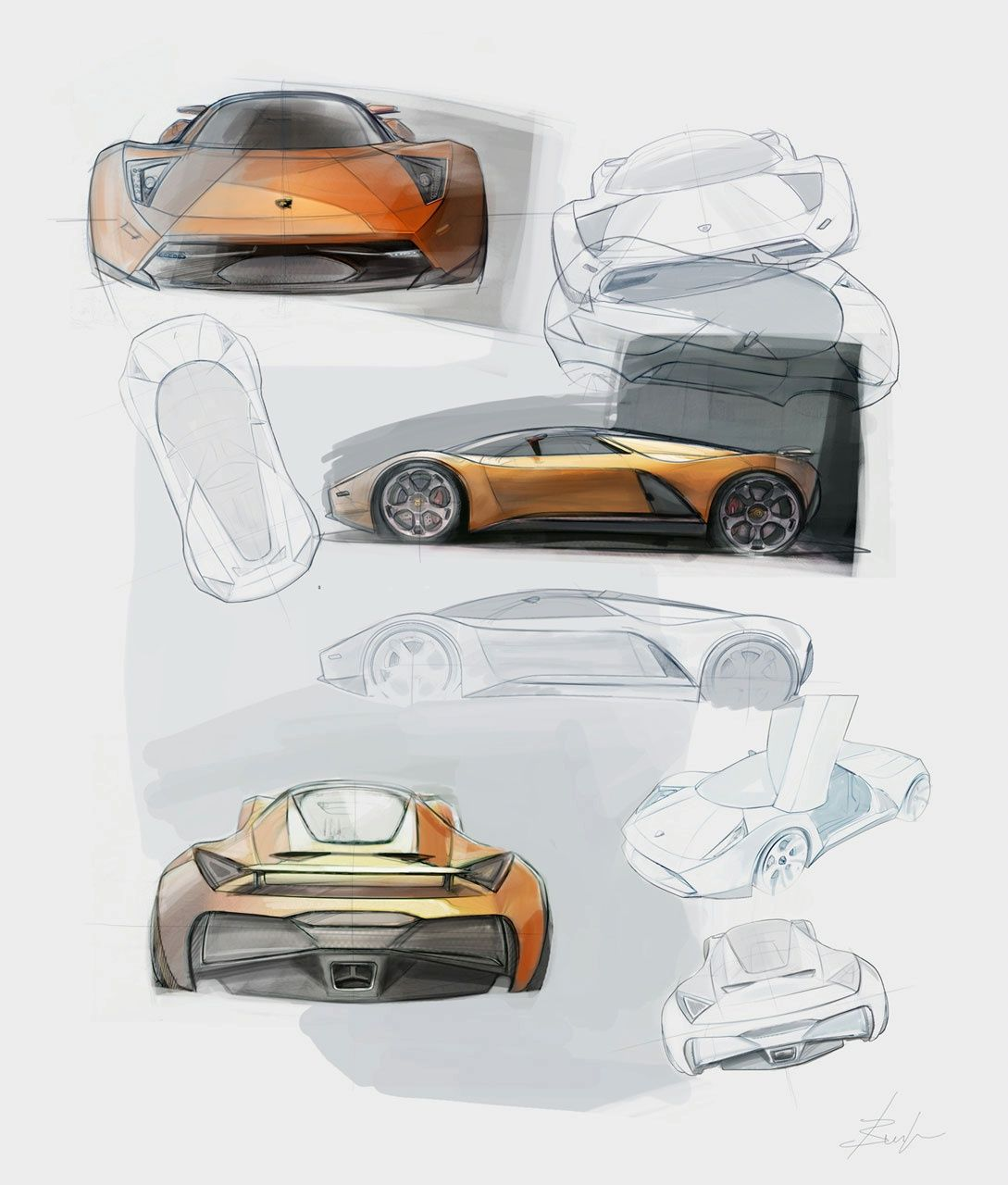 Automotive illustration