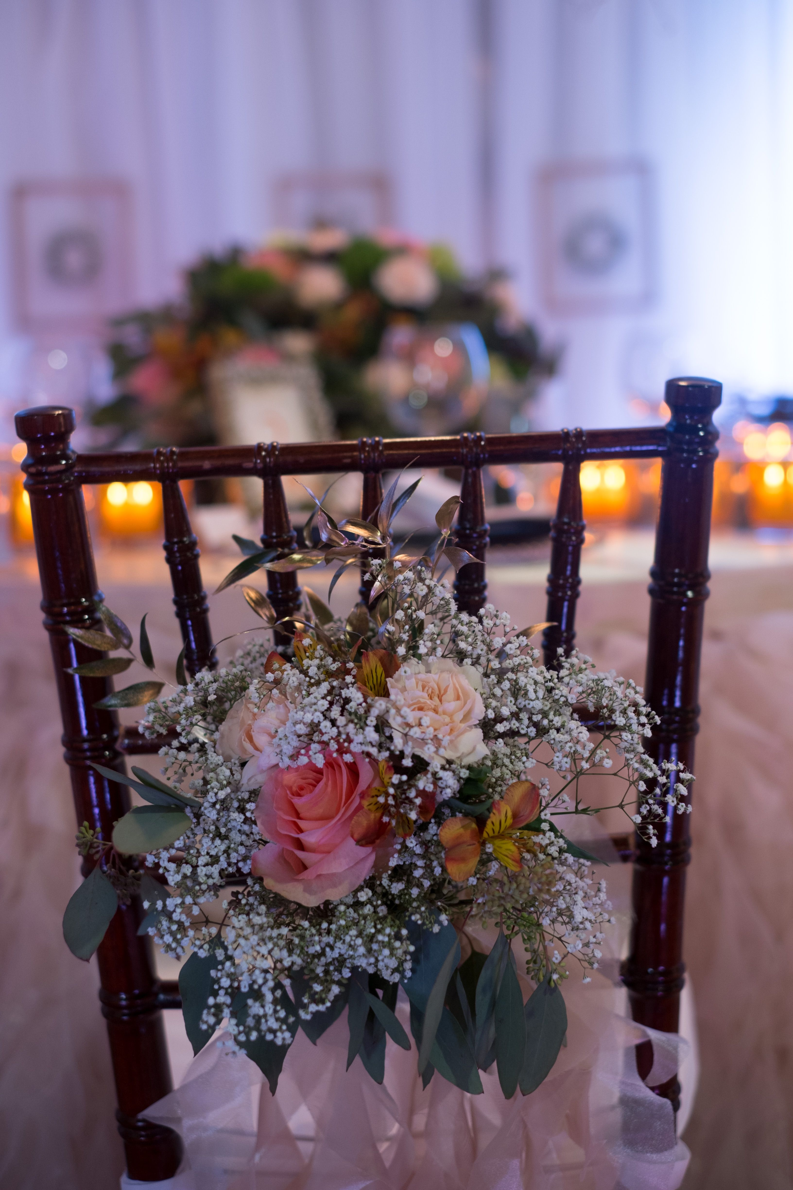Roses and soft white baby's breath add a perfect touch to Little