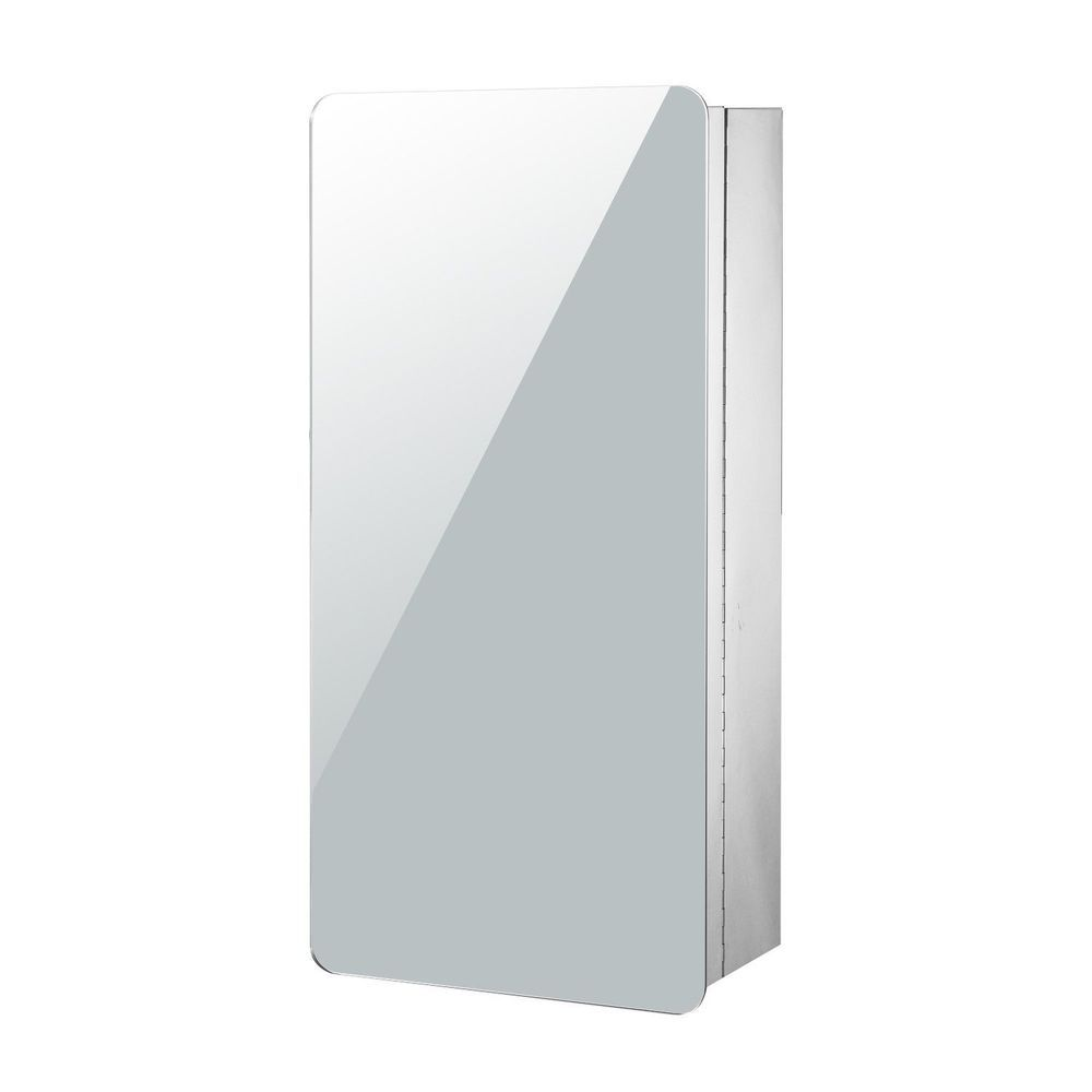 Wall Mounted Bathroom Mirror Cabinet Stainless Steel Silver Colour ...