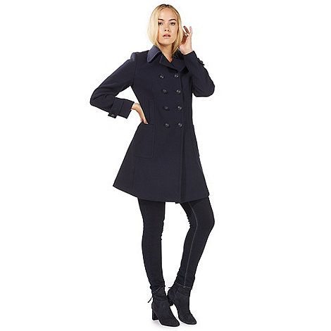 50% price shop best sellers 100% authentic Principles by Ben de Lisi Navy military style pea coat ...