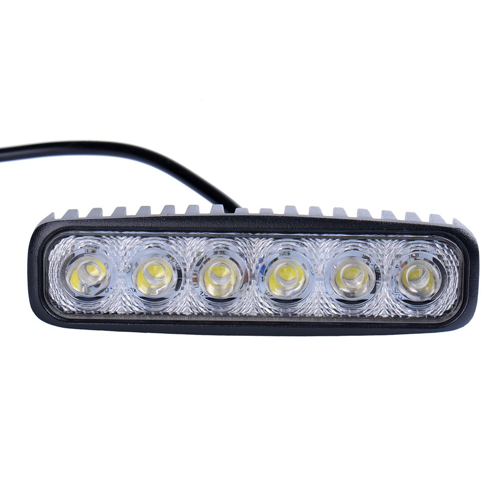 2 Pieces Lot 6inch 18w Mini Led Bar 12v Led Work Light Spot Flood Fog Lamp For Offroad Boat Truck Atv 4x4 Led Driv Led Driving Lights Car Lights Car Led Lights
