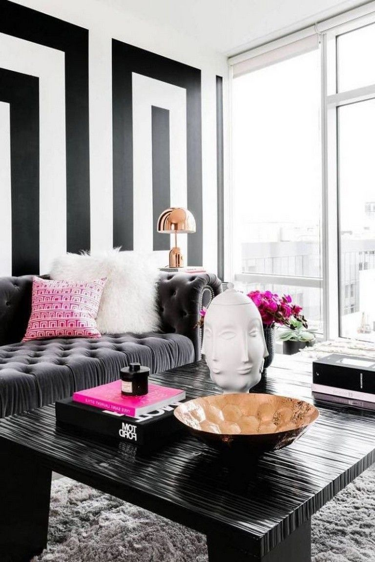 65 Beautiful Modern Black White Living Room Inspired Black