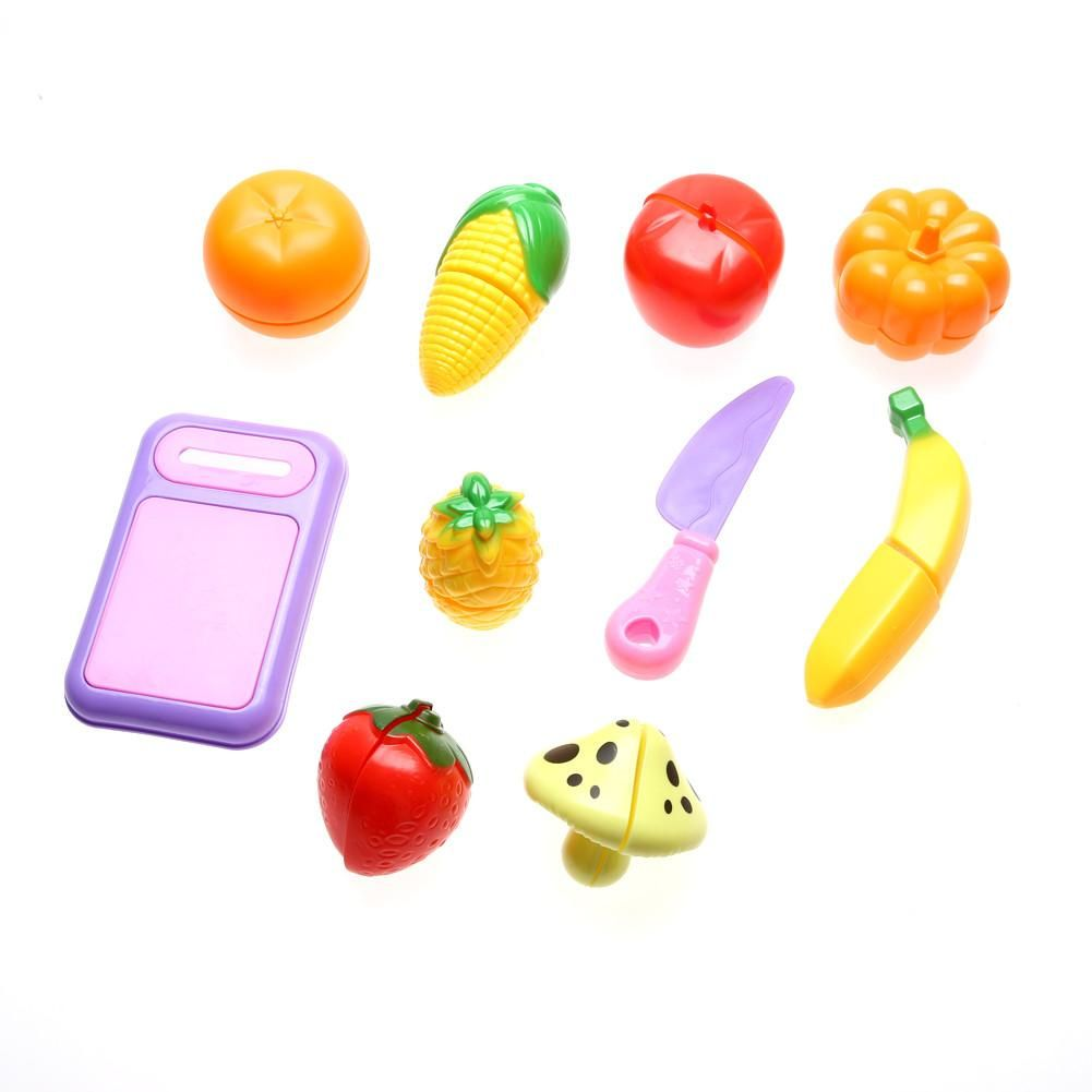 10Pcs/Set Multicolor Plastic Kitchen Food Fruit Vegetable Cutting ...