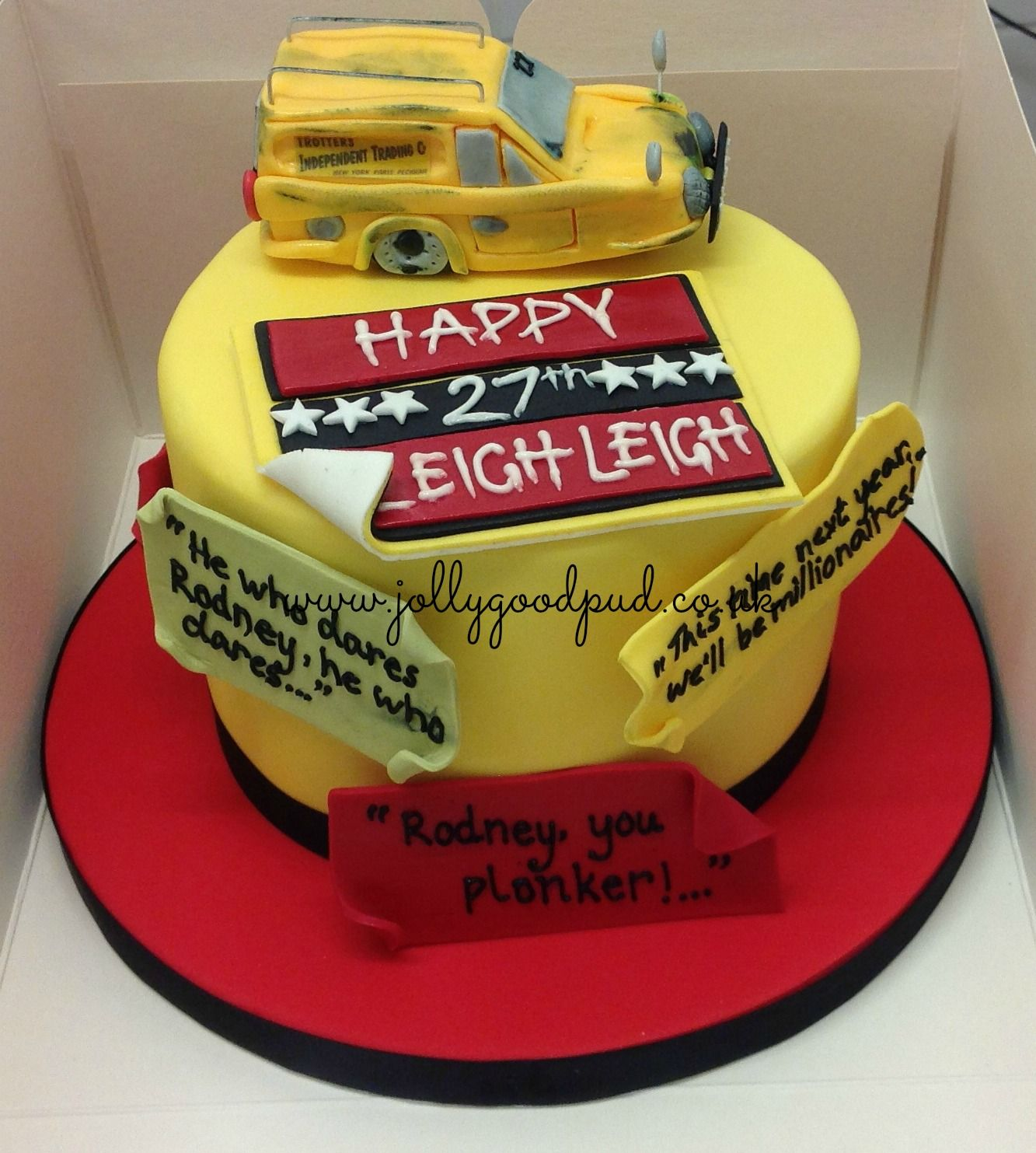Only Fools Horses Birthday Cake from The Jolly Good Pud Company