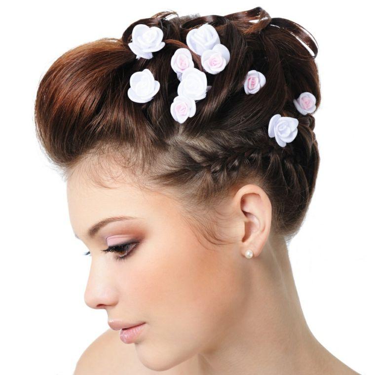 recogidos para bodas muy modernos y elegantes unos peinados y modelos de recogidos con mucho