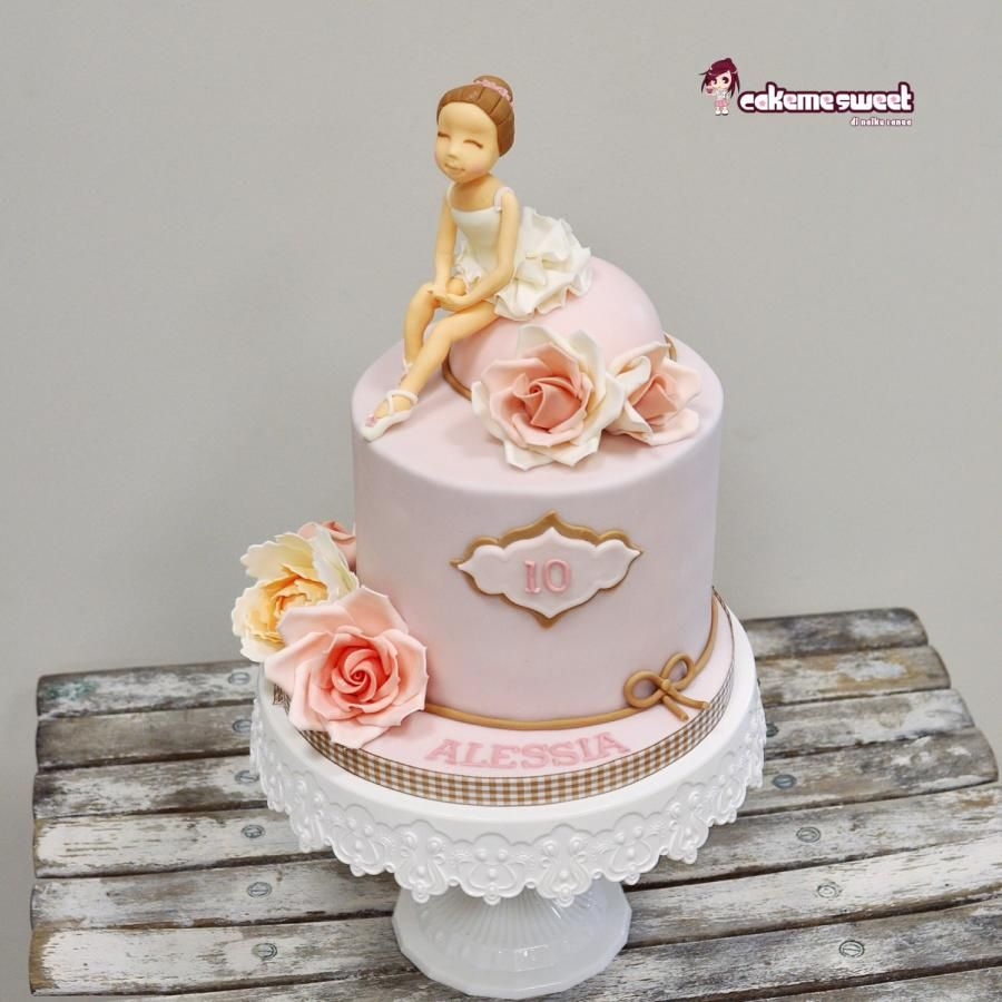 Ballet birthday cake by Naike Lanza Cakes Cake Decorating