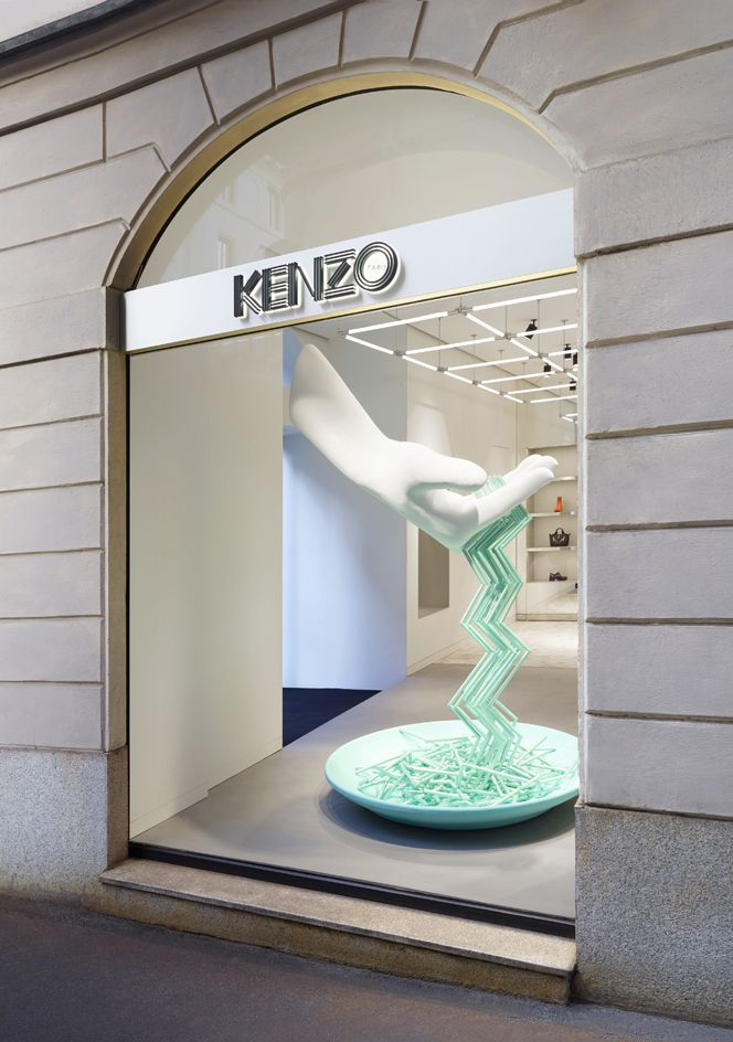 Kenzo   talented in house design team revamps the brand milan store with an italian flair fashion wallpaper magazine also rh pinterest