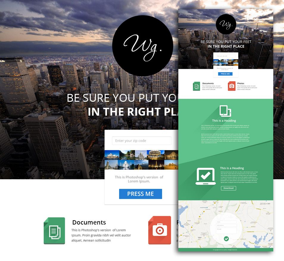 Wg We All Love The Simplicity Of This Flat Style Designs So Here Is One For Your Personal And Commercial Use Web Template Design Web Template Templates