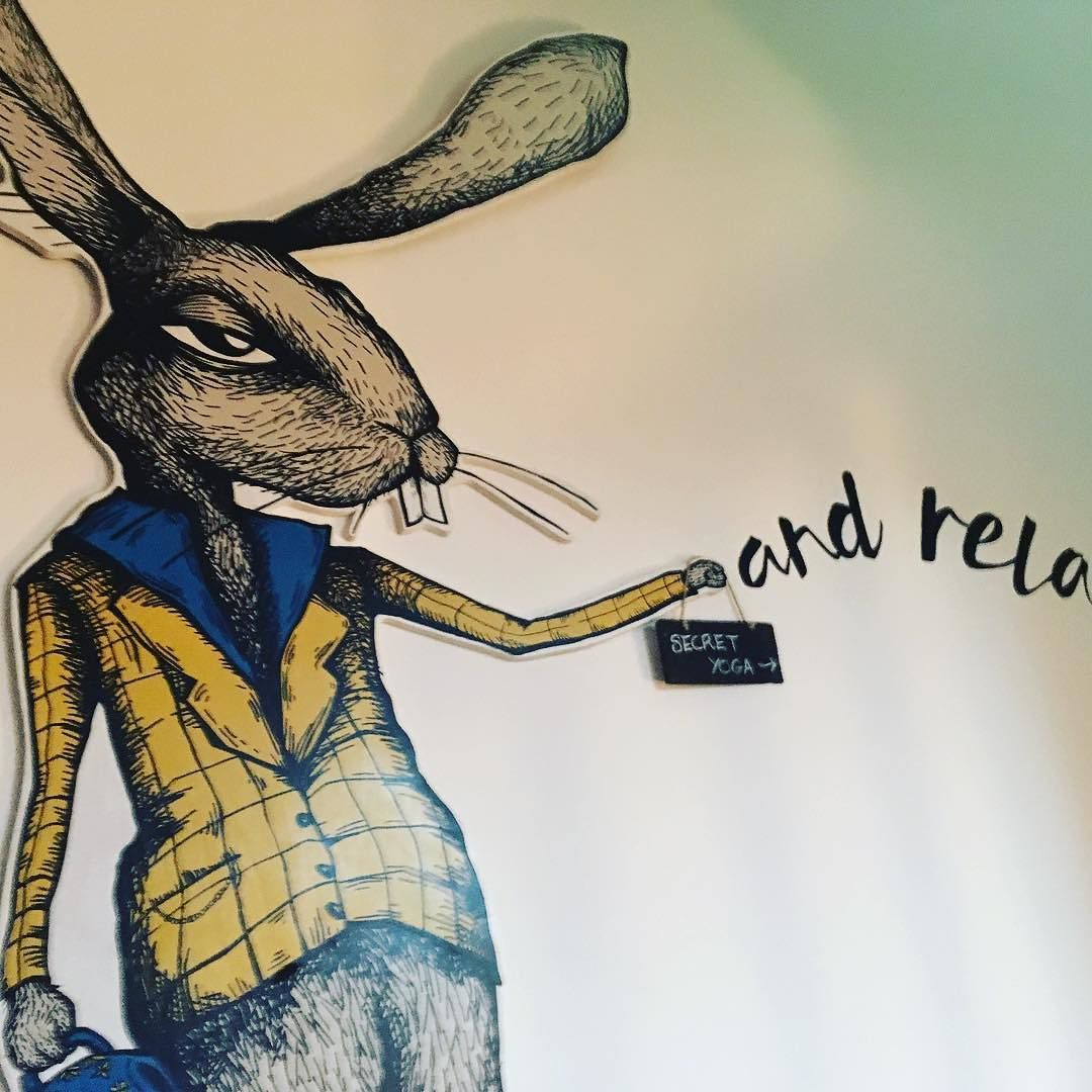 Follow the relaxed bunny to secret yoga @radiancewellbeing email me to book your spot! Sarah@sentiayoga.com  #yoga #sanctuary #thesecret #candles #hygge #spa