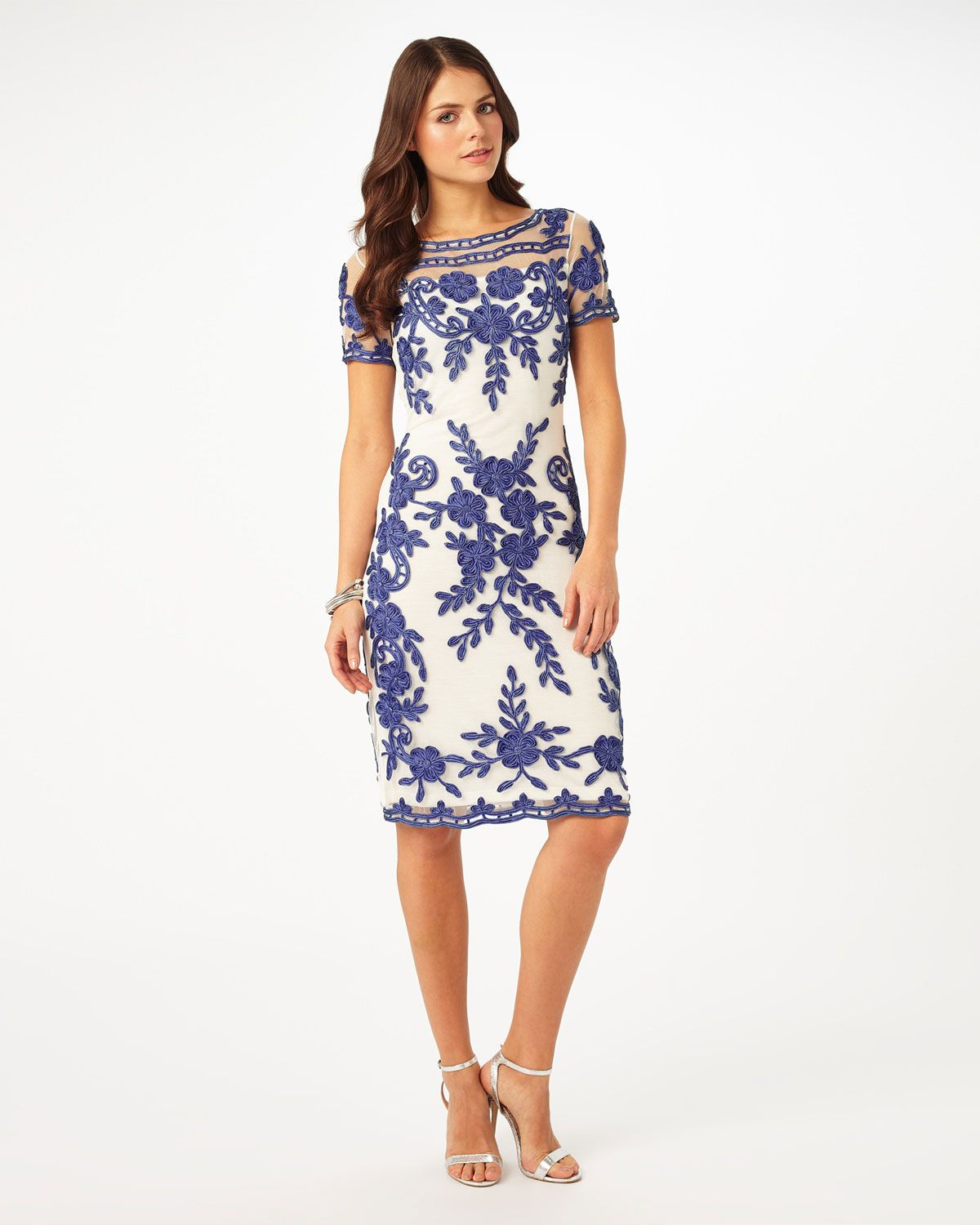 Short sleeve dresses for wedding guests  Sienna Tapework Dress  Wedding guest  Pinterest  Short sleeves