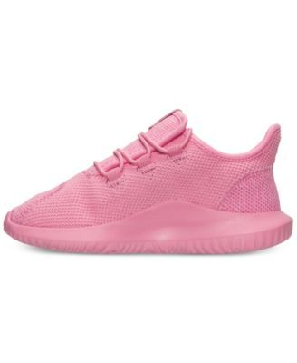 53b736c6406 adidas Little Girls  Tubular Shadow Knit Casual Sneakers from Finish Line -  PINK WHITE 1.5